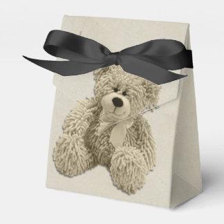 El oso de peluche personalizado le agradece fiesta cajas para regalos de boda