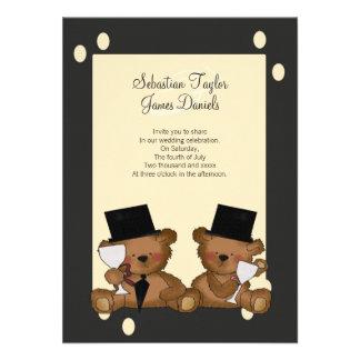 El oso de peluche prepara el boda comunicado personal