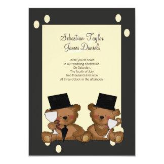 El oso de peluche prepara el boda invitación 11,4 x 15,8 cm