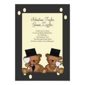 El oso de peluche prepara el boda invitación 12,7 x 17,8 cm