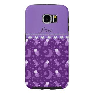 El oso de peluche púrpura personalizado del bebé fundas samsung galaxy s6