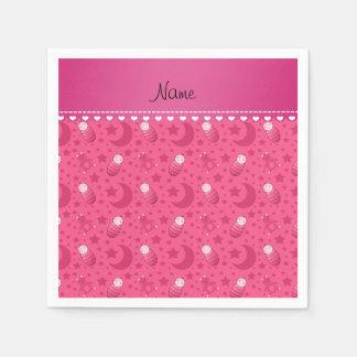 El oso de peluche rosado personalizado del bebé servilletas desechables