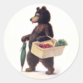 El oso de peluche va a comercializar pegatinas redondas