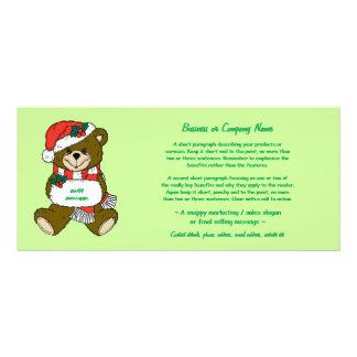 El oso de Santa con el gorra y el manguito atormen Diseños De Tarjetas Publicitarias