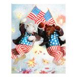 El oso del patriota celebra el cuarto de julio membretes personalizados