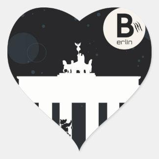 El oso en Berlín - Brandenburger portería Pegatina En Forma De Corazón