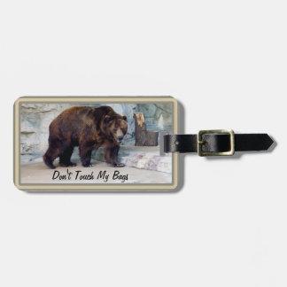 El oso grizzly no toca mi etiqueta del equipaje de etiquetas bolsas