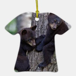 El oso hermana arte lindo de los animales de las adorno de cerámica en forma de camiseta