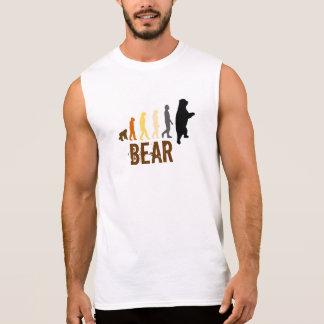 El oso la subida del oso del hombre colorea lg a camiseta sin mangas