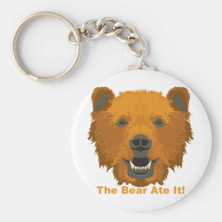 ¡El oso lo comió! Llavero Redondo Tipo Pin