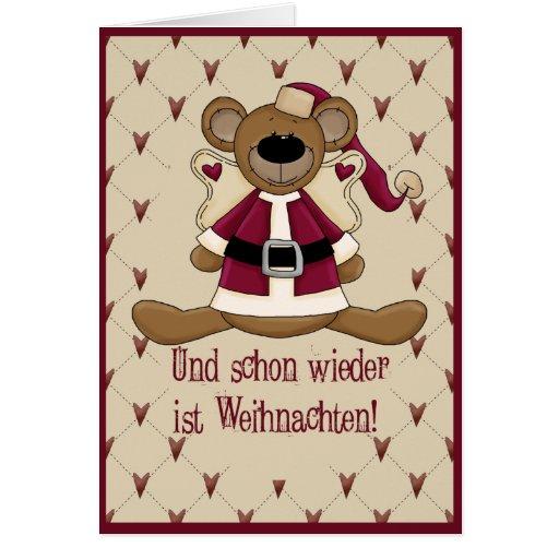 El oso navidad tarjeta de felicitación