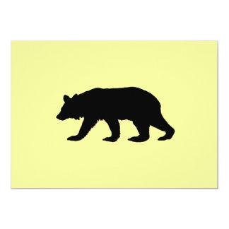 """El oso negro invita invitación 5"""" x 7"""""""