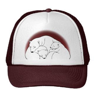 El oso polar capsula el gorra del arte de Cubs de