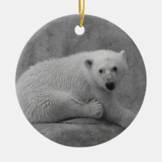 El oso polar Cub adorna Ornaments Para Arbol De Navidad