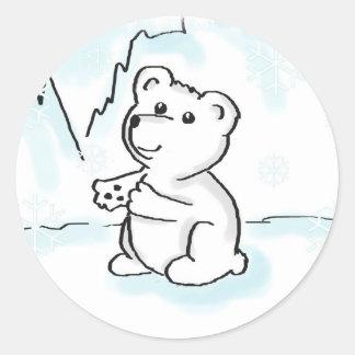 El oso polar Cub necesita a los pegatinas de un Etiqueta Redonda