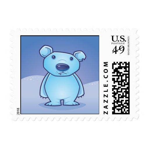 El oso polar Cub sella Franqueo