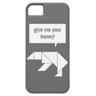el oso polar del rompecabezas chino me da su miel iPhone 5 fundas