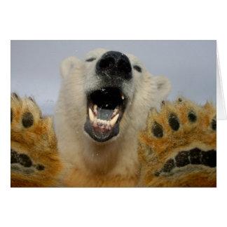 el oso polar, maritimus del Ursus, curiosamente mi Felicitacion