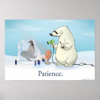 El oso polar paciente póster