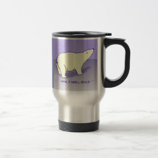 El oso polar va taza