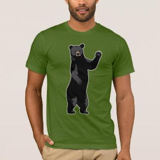El oso que agita dice hola playera