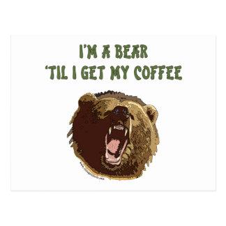 El oso quiere el café postal