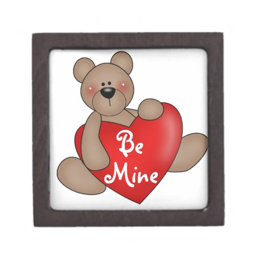 El oso sea caja del recuerdo de la tarjeta del día cajas de recuerdo de calidad
