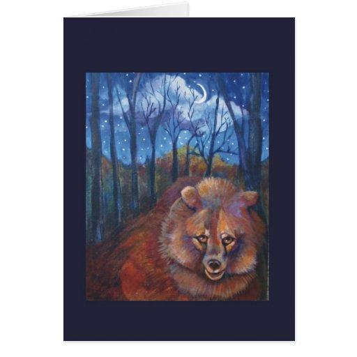 El oso tarjeta de felicitación