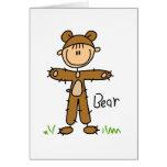 El oso viste para arriba las camisetas y los regal tarjeta