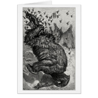 El oso y el behive tarjeta de felicitación