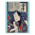 El Otododate Harugoma Yoshiro por Utagawa, Toyokun Tarjeta Postal