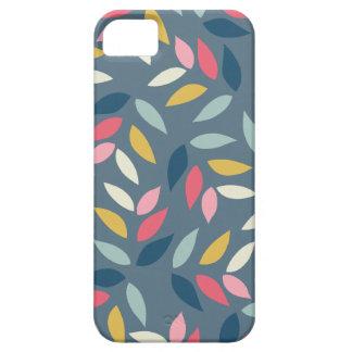 El otoño abstracto inspirado deja el modelo funda para iPhone 5 barely there