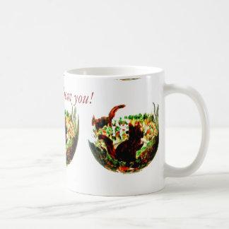 El otoño atesora el arte animal taza de café