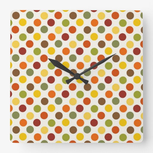 El otoño bonito de la caída colorea el modelo de l reloj de pared