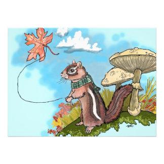 El otoño Chipmunk invita Invitación Personalizada