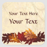 El otoño colorea al pegatina del personalizado de