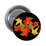 El otoño colorea el botón pin