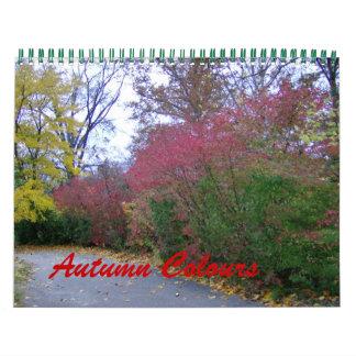 El otoño colorea el calendario