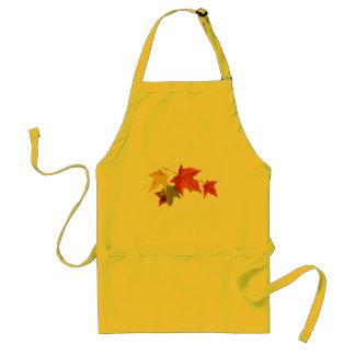 El otoño colorea el delantal