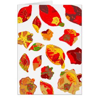 El otoño colorea el modelo de la hoja tarjeta de felicitación