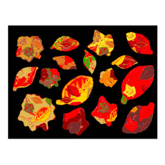 El otoño colorea el modelo de la hoja tarjeta postal