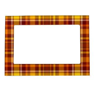 El otoño colorea el modelo del tartán marcos magneticos para fotos