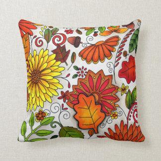 El otoño colorea la almohada