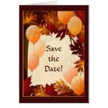 El otoño colorea las hojas ahorra la tarjeta de no