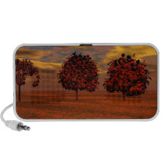 El otoño colorea los regalos del arte de los árbol altavoces