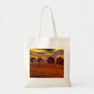 El otoño colorea los regalos del arte de los árbol bolsa de mano