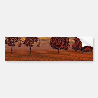 El otoño colorea los regalos del arte de los árbol etiqueta de parachoque