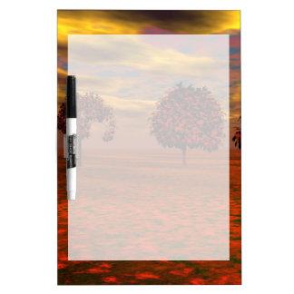 El otoño colorea los regalos del arte de los árbol pizarras