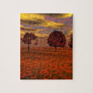 El otoño colorea los regalos del arte de los árbol puzzle