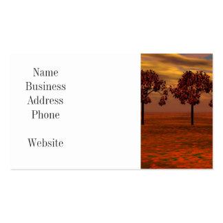 El otoño colorea los regalos del arte de los árbol tarjeta de negocio